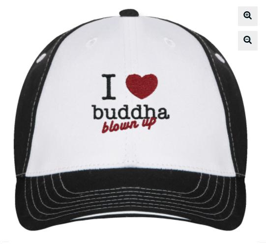 trucker hat- 'I love buddha blown up'