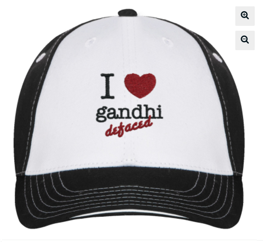 trucker hat- 'I love gandhi defaced'