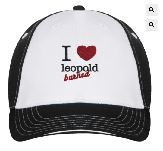 trucker hat- 'I love leopold burned'