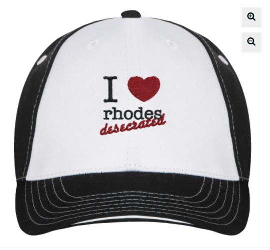trucker hat- 'I love rhodes desecrated'