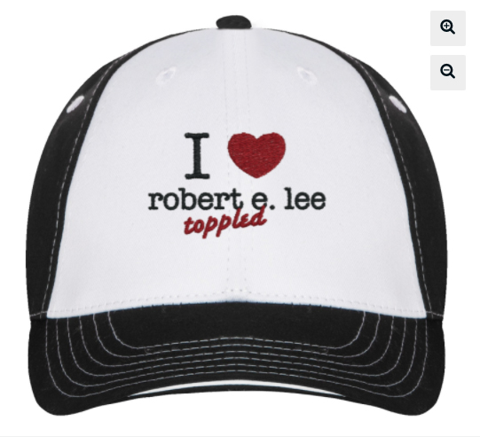 trucker hat- I love robert e lee toppled