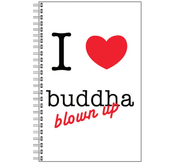 Notebook- 'I love buddha blown up'
