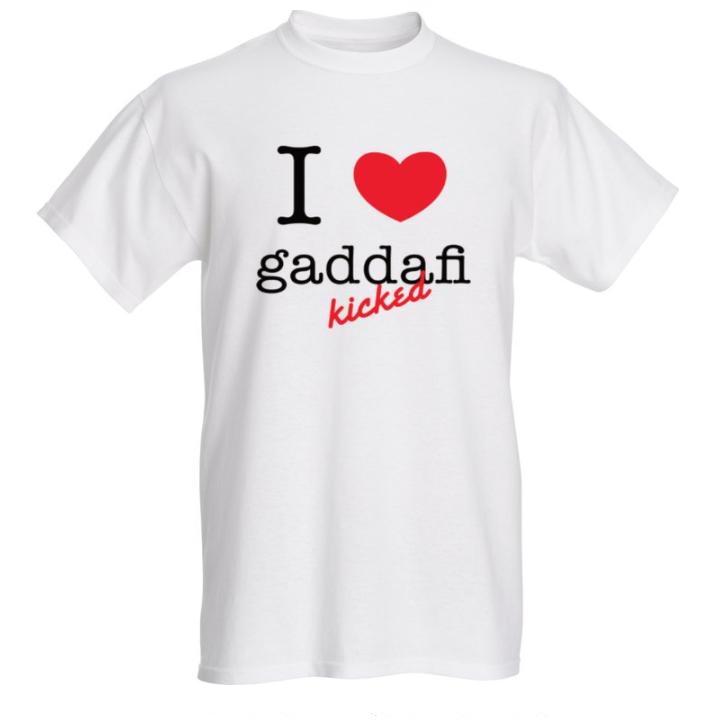I love t-shirt -gaddafi kicked