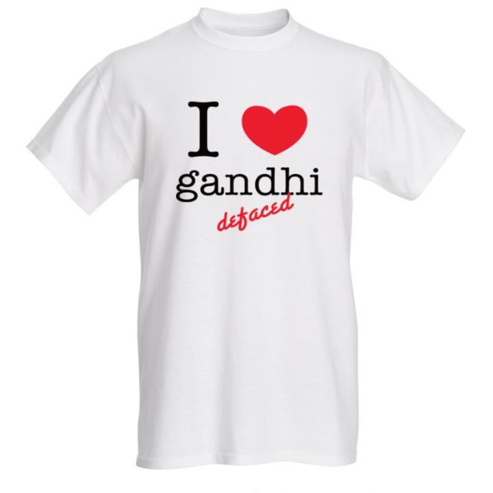 I love t-shirt-gandhi defaced